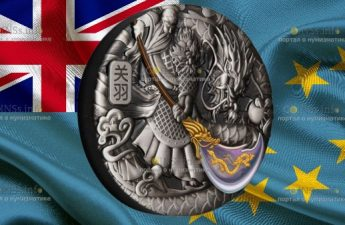 Тувалу монета 5 долларов Гуань Юй