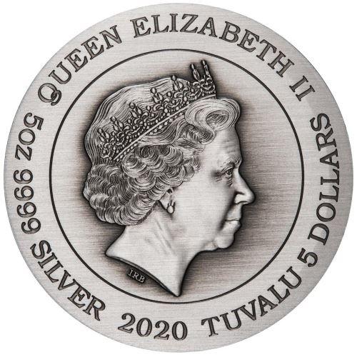 Тувалу монета 5 долларов Гуань Юй, аверс