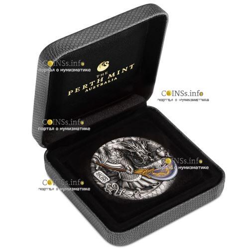 Тувалу монета 5 долларов Гуань Юй, подарочная упаковка