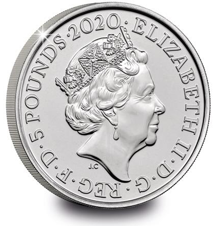 Великобритания монета Уильяма Вордсворта, аверс