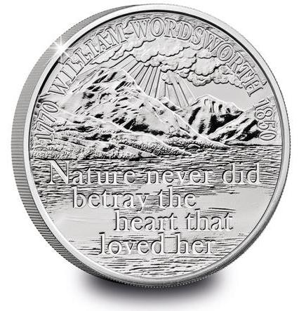 Великобритания монета Уильяма Вордсворта, реверс
