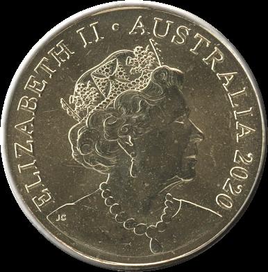 Австралия монета 1 доллар, латунь, 2020, аверс