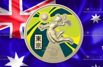 Австралия монета 1 доллар Олимпийские игры в Токио-2020