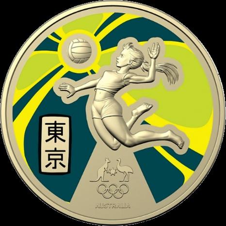 Австралия монета 1 доллар Олимпийские игры в Токио-2020, реверс