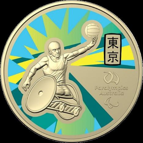 Австралия монета 1 доллар Паралимпийские игры в Токио-2020, реверс