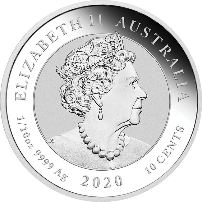 Австралия монета 10 центов 75 лет окончания Второй Мировой войны, аверс