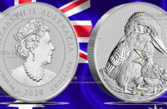 Австралия монета 2 доллара Кукабурра