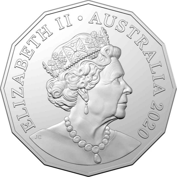 Австралия монета 50 центов, 2020 год, аверс