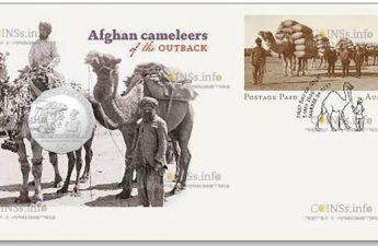 Австралия монета 50 центов Афганские верблюды
