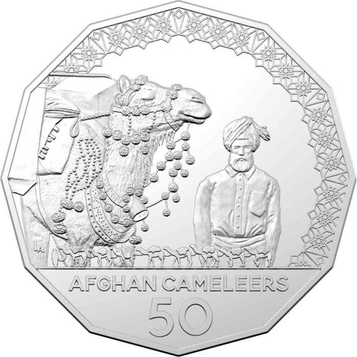 Австралия монета 50 центов Афганские верблюды, реверс