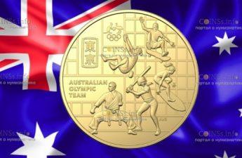 Австралия монета 50 центов олимпийская команда Австралии