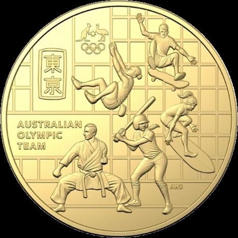 Австралия монета 50 центов олимпийская команда Австралии, реверс