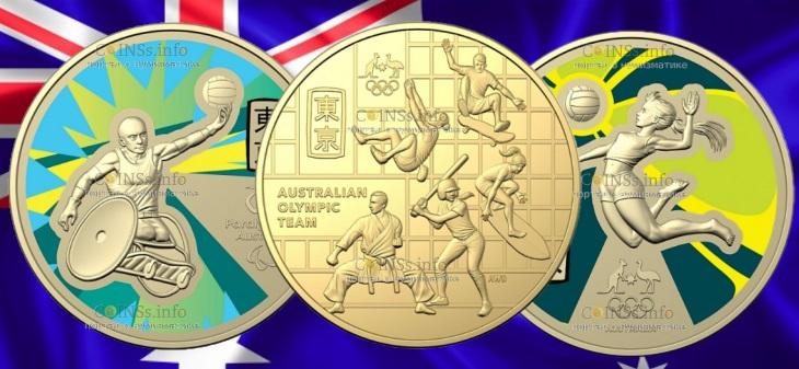 Австралия выпустила сразу 3 монеты к Олимпийским играм в Токио-2020