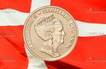 Дания монета к 80-летию Маргрете II