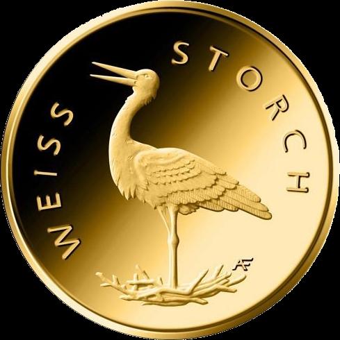 Германия монета 20 евро Белый Аист, реверс