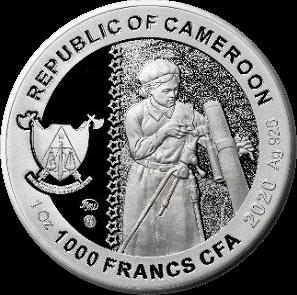 Камерун монета 1000 франков КФА Катюша, аверс