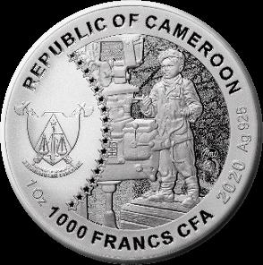 Камерун монета 1000 франков У-2, аверс