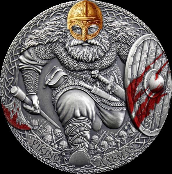 Камерун монета 3000 франков Викинг Аксеман, реверс