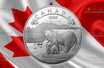 Канада монета 10 долларов Белый медведь