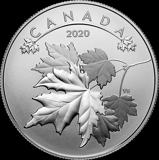 Канада монета 10 долларов Кленовые листья, реверс