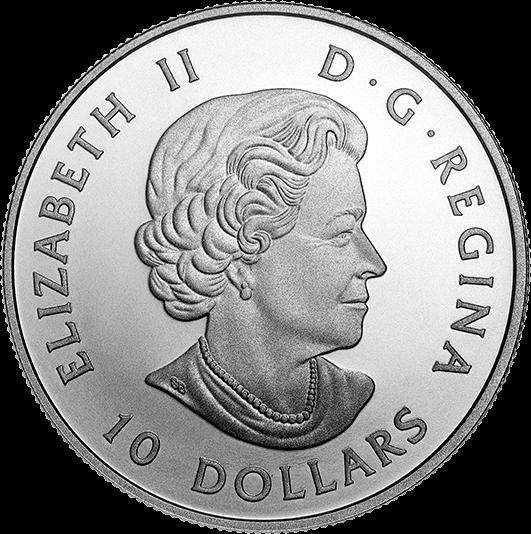 Канада монета 10 долларов Кленовые листья, аверс