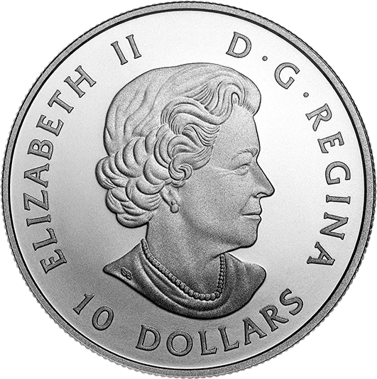 Канада монета 10 долларов Парламент Канады, аверс
