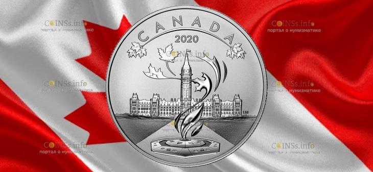 Канада монета 10 долларов Парламент Канады