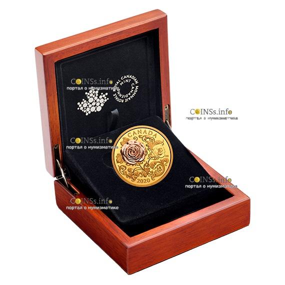 Канада монета 200 долларов Королевская роза, подарочная упаковка