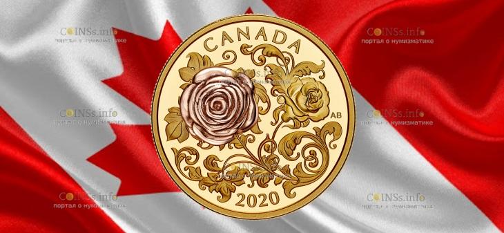 Канада монета 200 долларов Королевская роза