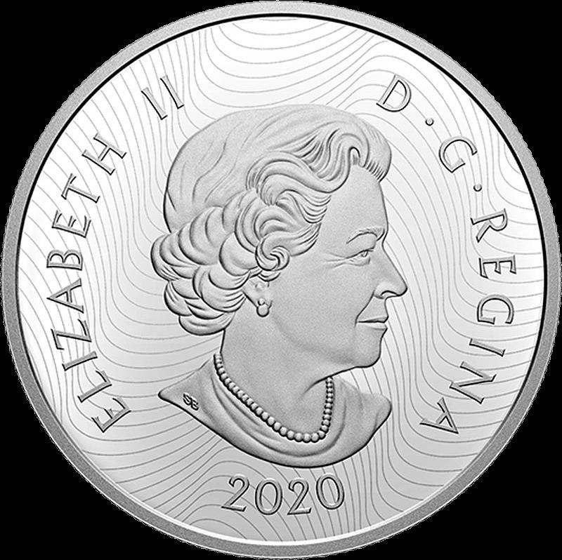 Канада монета 30 долларов 2020 год, аверс