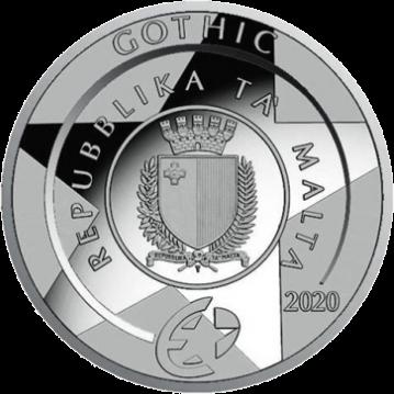 Мальта монета 10 евро Готика, аверс