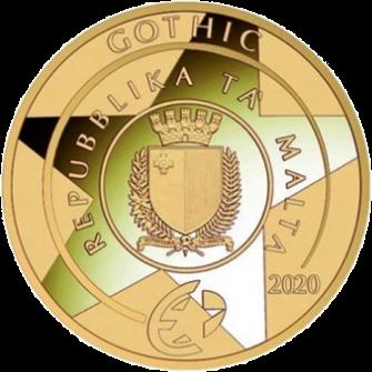 Мальта монета 50 евро Готика, аверс