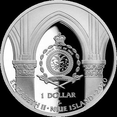 Ниуэ монета 1 доллар серии Нотр-Дам де Пари, аверс