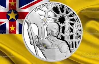 Ниуэ монета 1 доллар Жанна д'Арк - Богородица Орлеанская