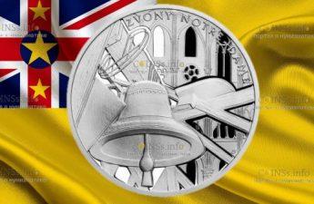 Ниуэ монета 1 доллар Звонница собора Нотр-Дам