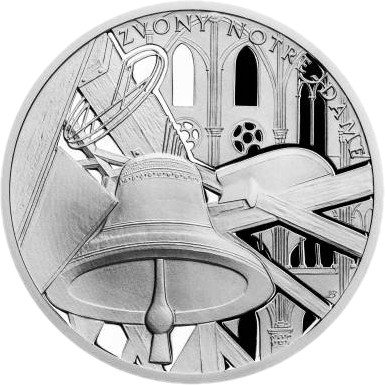 Ниуэ монета 1 доллар Звонница собора Нотр-Дам, реверс