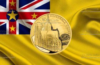 Ниуэ монета 10 доллар Кафедральный собор Нотр-Дам