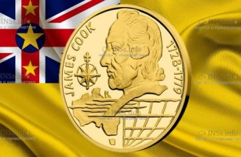 Ниуэ монета 10 долларов Джеймс Кук