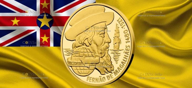Ниуэ монета 10 долларов Фернан Магеллан
