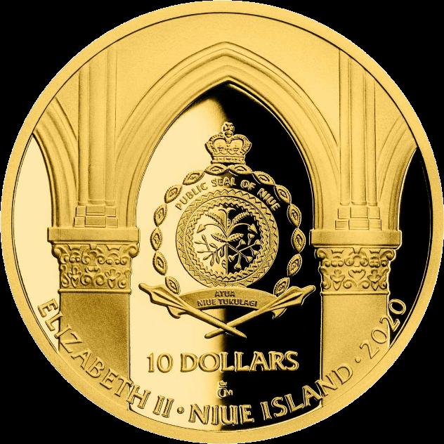 Ниуэ монета 10 долларов серии Нотр-Дам де Пари, аверс