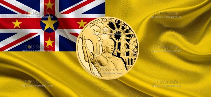 Ниуэ монета 10 долларов Жанна д'Арк - Богородица Орлеанская