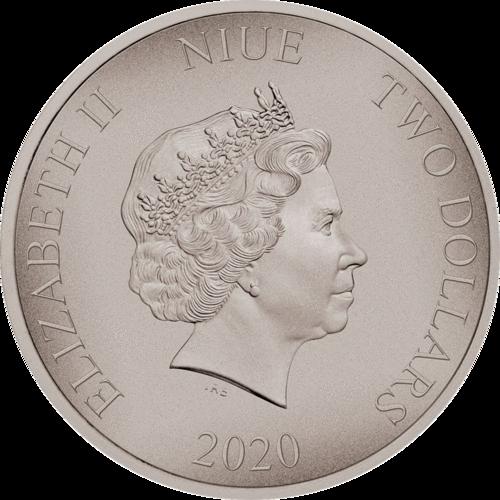 Ниуэ монета 2 доллара 2020 год, аверс