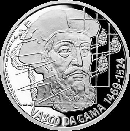 Ниуэ монета 2 доллара Васко да Гама, реверс
