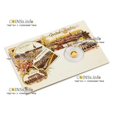 Ниуэ монета 5 долларов Брно - Собор Святых Петра и Павла, подарочная упаковка