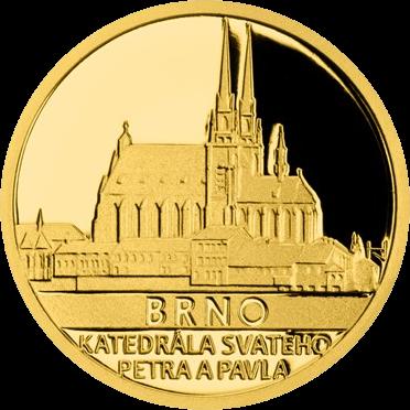 Ниуэ монета 5 долларов Брно - Собор Святых Петра и Павла, реверс
