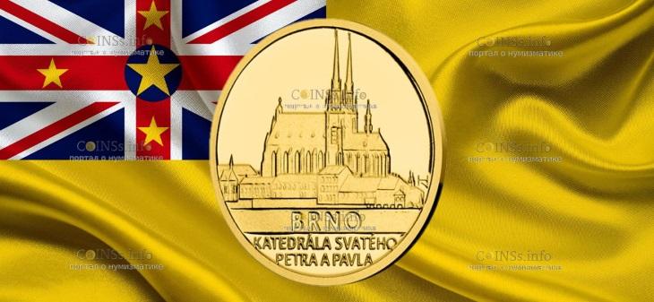 Ниуэ монета 5 долларов Брно - Собор Святых Петра и Павла