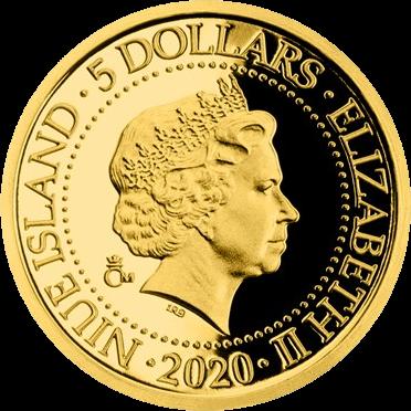Ниуэ монеты серии Старые виды на открытках 5 долларов, аверс
