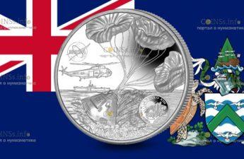 Остров Вознесения монета 1 крона 50-летие полета Аполлона-13