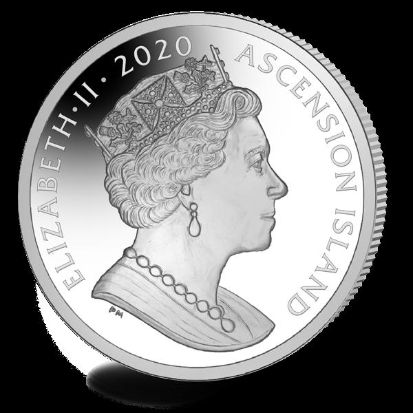 Остров Вознесения монета 1 крона 50-летие полета Аполлона-13, аверс
