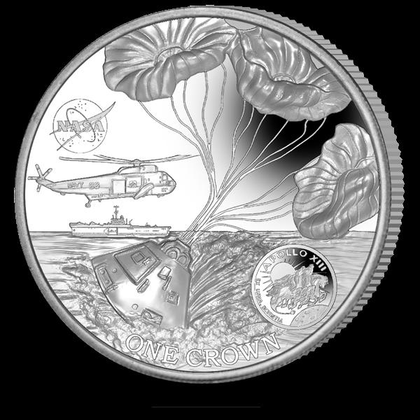 Остров Вознесения монета 1 крона 50-летие полета Аполлона-13, реверс